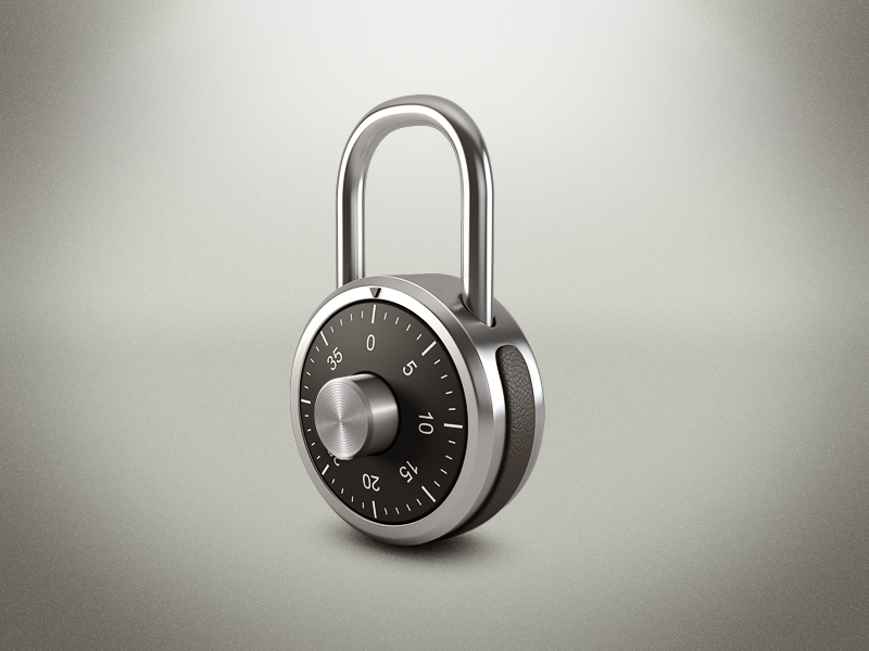 Locks with numerical codes